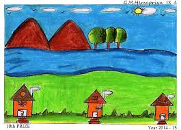 drawing peion in our drawing cl how to paint a village scenery in water color 28 collection of std 9 drawing book