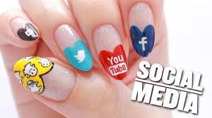 Art Design Instagram Social Media Nail Art Design Snapchat Instagram Youtube Twitter Facebook