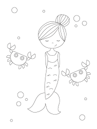 The little mermaid is an animated disney movie released in 1989. Free Printable Mermaid Coloring Pages Parents