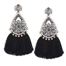 rarelove bohemian rhinestone chandelier earrings
