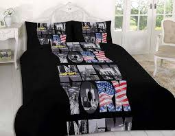 new york city black quilt cover