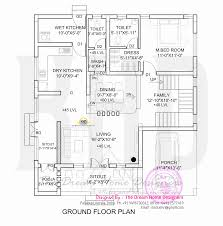 Small Picture 1700 sq feet 3D house elevation and plan Kerala home design