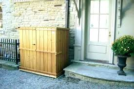garbage storage shed trash can sheds outdoor bin plans outside costco