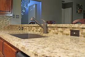Light Beige Granite Countertop Light Beige Kitchen Granite Countertops With Mosaic
