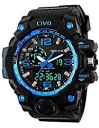 amazon co uk under £25 watches civo men s boy s analogue digital 50m waterproof military sport watch mens big face dual dial business casual