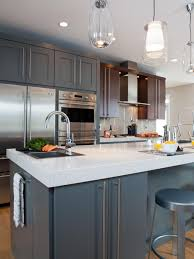 Long Cabinet Pulls Travel The Full Height Of The Door Adding A