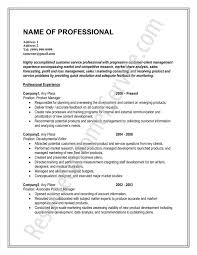 Professional Looking Resumes