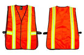 41113 Industrial Safety Vest with <b>Reflective Stripes</b>, <b>Neon</b> Orange ...