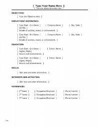 Resume Awesome Basic Job Resume Template Basic Job Resume Template