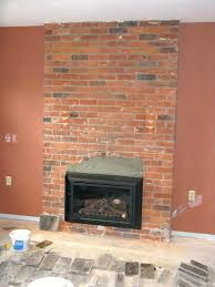 fireplace brick veneer s replace with stone cost