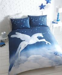 unicorn super king size duvet cover set