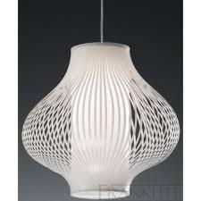 franklite pch63 1134 white pvc modern pendant light