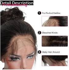 360 Lace Wigs Indian Hair Deep Curly 150 Hair Density 18inch