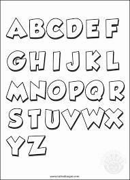 Lettere Semplici Da Colorare Immagini Di Disegni Da Colorare