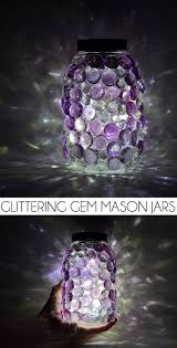 these glittering gem mason jars are a snap to make and so pretty diy solar