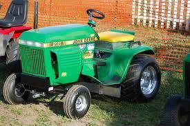 john deere pulling tractor