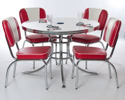 Red dining table set Red Leather Image Of Tables Red Retro Kitchen Table Sets Adam Guerino Design How To Restore Retro Kitchen Table Sets Chrome Adam Guerino