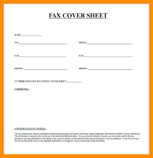 Best Solutions Of 6 Basic Fax Cover Sheet Sales Clerked On Template