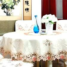 fantastic dining table cover v60216 beige polyester jacquard embroidered round dining tablecloths cover table cloth