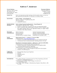 Resume Template For Internship For College Students Unique College
