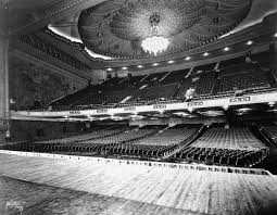 1926 view of the shrine auditorium from stage note the beautiful chandelier hanging from the ceiling