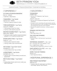Yoga Resume Nardellidesign Com