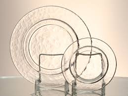 obscura clear dinner salad plate