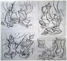 Декоративный натюрморт интерактивная площадка Поленовский форум  Линейные эскизы Декоративный натюрморт