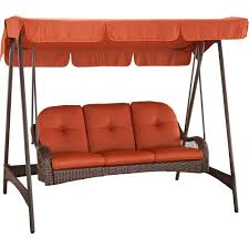 patio swing canopy red free better homes and gardens azalea ridge  person woven swing with canopy