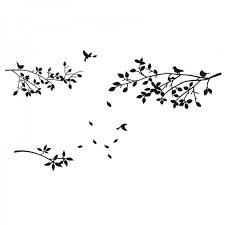 tree branches wall decal with birds and
