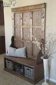 Beadboard Entryway Coat Rack Hall Tree Storage Bench Entry Traditional With Beadboard Within 66