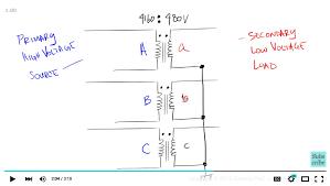 3 phase delta to wye transformer wiring diagram wiring introduction to the delta wye transformer connection rh generalpac com 480 3 phase delta y 480 volt 3 phase transformer wiring diagram