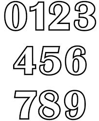 Numeri Grandi Da Stampare Az Colorare