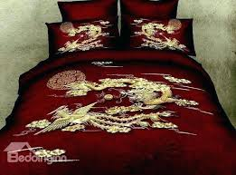 asian bedding set style bedding bedding sets style exquisite dragon and phoenix print red 4 piece