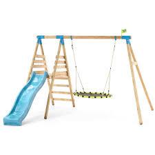 tp fiordland wooden swing set and slide