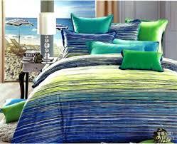 blue and green comforter set blue green striped cotton bedding set queen quilt duvet cover king blue and green comforter set