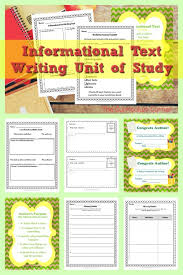 Informational Text Writing Unit Of Study The Curriculum