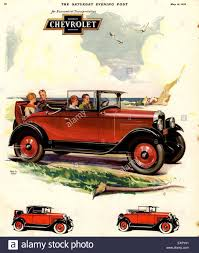 1920s USA Chevrolet Magazine Advert Stock Photo, Royalty Free ...