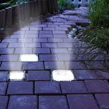 Brick Paver Lights Solar Powered Glass Brick Paver Lights Glass Brick Brick