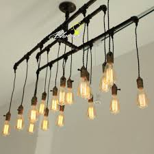 handmade lighting fixtures. Handmade Pipe And Edison Bulbs Chandelier 8822 : Free Ship! Browse Project Lighting Modern Fixtures For Home Use, Ship! P