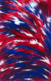 red painting american flag by michael vigliotti