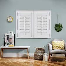 wooden shutter blinds.  Blinds Full Height Boston Pure White Intended Wooden Shutter Blinds N