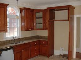open glass kitchen cabinet