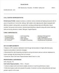 Customer Service Call Center Resume Objective Delectable Call Center Resume Example 48 Free Word PDF Documents Download