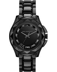 shop men s karl lagerfeld watches from 125 lyst karl lagerfeld kl1001 karl 7 black mens bracelet watch lyst