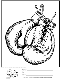 Awesome Coloring Page Boxing Gloves Coloring Pages Boxing Gloves