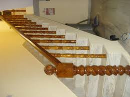 Image of: Railings for Stairs Wood Unique