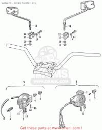 honda ca95 benly usa 1320003 winker horn switch 2 winker horn switch 2 schematic