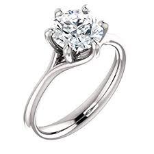 GNGJewel Forever One <b>Moissanite</b> (GHI) <b>Engagement</b> Ring in Solid ...