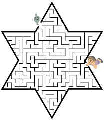Small Picture maze the dreidel through the star of David shaped maze to